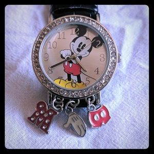 Disney Mickey Mouse watch with charms